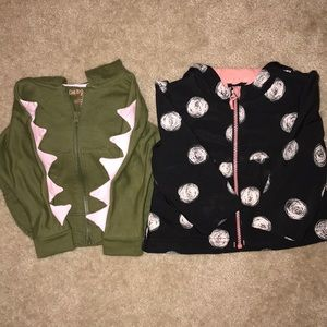 Baby Girls 18 month Dino hoodie and Jacket